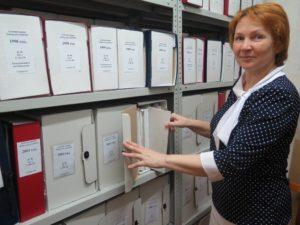 Хранение документов в архивных коробках. Рослякова Т.Ю. 2018г